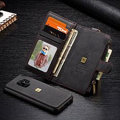 Handytasche Stand Schutzhülle Flip Leder Hülle T01 für Samsung Galaxy S9 Schwarz