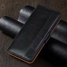 Handytasche Stand Schutzhülle Flip Leder Hülle T01 für Xiaomi Redmi Note 9 Pro Schwarz
