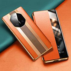 Handytasche Stand Schutzhülle Flip Leder Hülle T02 für Huawei Mate 40 Orange