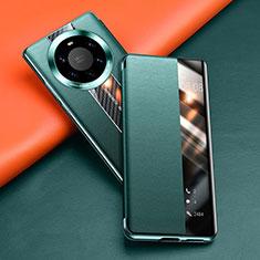 Handytasche Stand Schutzhülle Flip Leder Hülle T02 für Huawei Mate 40 Pro+ Plus Grün