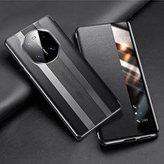 Handytasche Stand Schutzhülle Flip Leder Hülle T02 für Huawei Mate 40 Pro Schwarz
