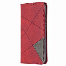 Handytasche Stand Schutzhülle Flip Leder Hülle T02 für Huawei P Smart (2020) Rot