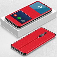 Handytasche Stand Schutzhülle Flip Leder Hülle T02 für Xiaomi Mi 9T Pro Rot
