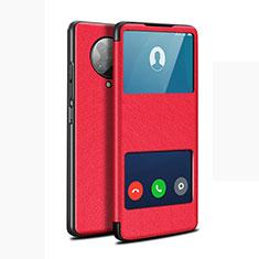 Handytasche Stand Schutzhülle Flip Leder Hülle T02 für Xiaomi Redmi K30 Pro Zoom Rot