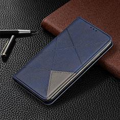 Handytasche Stand Schutzhülle Flip Leder Hülle T02 für Xiaomi Redmi Note 9 Pro Blau