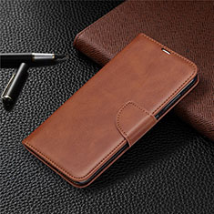 Handytasche Stand Schutzhülle Flip Leder Hülle T03 für Xiaomi Redmi Note 9 Braun