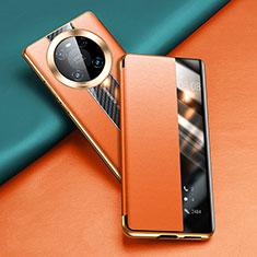Handytasche Stand Schutzhülle Flip Leder Hülle T04 für Huawei Mate 40 Pro Orange