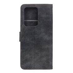 Handytasche Stand Schutzhülle Flip Leder Hülle T04 für Huawei P40 Pro+ Plus Schwarz