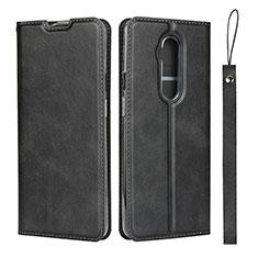 Handytasche Stand Schutzhülle Flip Leder Hülle T04 für OnePlus 7T Pro Schwarz