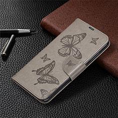Handytasche Stand Schutzhülle Flip Leder Hülle T04 für Xiaomi Redmi Note 9 Grau