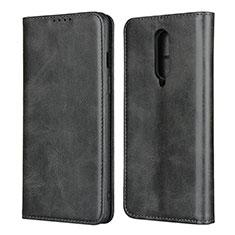 Handytasche Stand Schutzhülle Flip Leder Hülle T06 für OnePlus 8 Schwarz