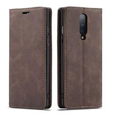 Handytasche Stand Schutzhülle Flip Leder Hülle T07 für OnePlus 8 Braun