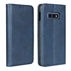 Handytasche Stand Schutzhülle Flip Leder Hülle T07 für Samsung Galaxy S10e Blau