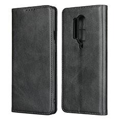 Handytasche Stand Schutzhülle Flip Leder Hülle T09 für OnePlus 8 Pro Schwarz