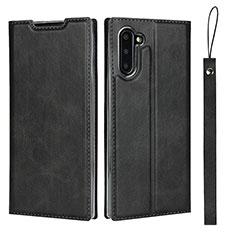 Handytasche Stand Schutzhülle Flip Leder Hülle T09 für Samsung Galaxy Note 10 5G Schwarz