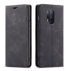 Handytasche Stand Schutzhülle Flip Leder Hülle T10 für OnePlus 8 Pro Schwarz
