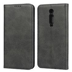 Handytasche Stand Schutzhülle Flip Leder Hülle T10 für Xiaomi Mi 9T Pro Schwarz