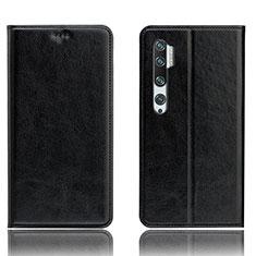 Handytasche Stand Schutzhülle Flip Leder Hülle T12 für Xiaomi Mi Note 10 Schwarz
