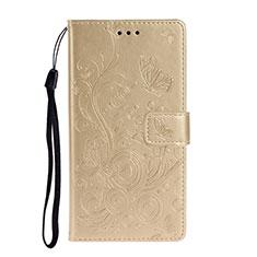 Handytasche Stand Schutzhülle Flip Leder Hülle T14 für Huawei P40 Gold