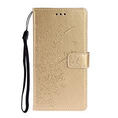 Handytasche Stand Schutzhülle Flip Leder Hülle T15 für Huawei P40 Gold
