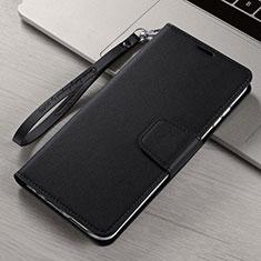 Handytasche Stand Schutzhülle Flip Leder Hülle T15 für Xiaomi Mi Note 10 Schwarz