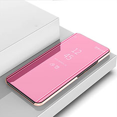 Handytasche Stand Schutzhülle Flip Leder Rahmen Spiegel Tasche für Oppo A8 Rosegold