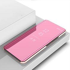 Handytasche Stand Schutzhülle Flip Leder Rahmen Spiegel Tasche für Realme 6s Rosegold