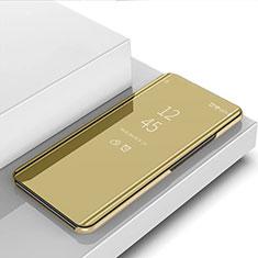 Handytasche Stand Schutzhülle Flip Leder Rahmen Spiegel Tasche für Sony Xperia 1 II Gold