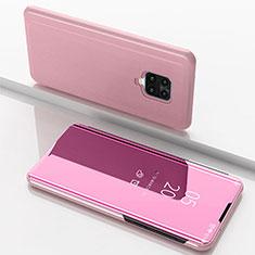 Handytasche Stand Schutzhülle Flip Leder Rahmen Spiegel Tasche für Xiaomi Redmi 10X Pro 5G Rosegold