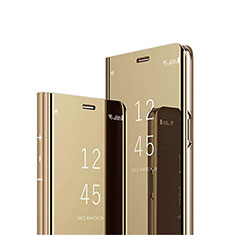 Handytasche Stand Schutzhülle Flip Leder Rahmen Spiegel Tasche L02 für Xiaomi Poco M3 Gold