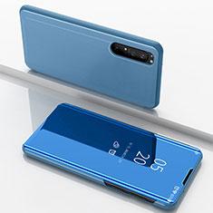 Handytasche Stand Schutzhülle Flip Leder Rahmen Spiegel Tasche L03 für Sony Xperia 1 II Blau
