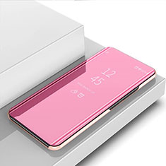 Handytasche Stand Schutzhülle Flip Leder Rahmen Spiegel Tasche M01 für Huawei Nova 6 5G Rosegold