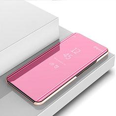 Handytasche Stand Schutzhülle Flip Leder Rahmen Spiegel Tasche M03 für Huawei Nova 5i Rosegold