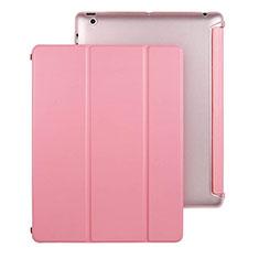 Handytasche Stand Schutzhülle Leder für Apple iPad 3 Rosa