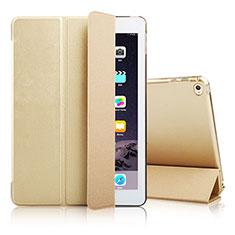 Handytasche Stand Schutzhülle Leder für Apple iPad Air 2 Gold