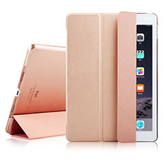 Handytasche Stand Schutzhülle Leder für Apple iPad Air 2 Rosegold