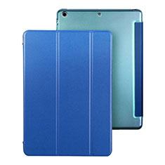 Handytasche Stand Schutzhülle Leder für Apple iPad Air Blau