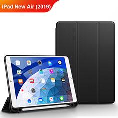 Handytasche Stand Schutzhülle Leder für Apple iPad New Air (2019) 10.5 Schwarz