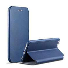 Handytasche Stand Schutzhülle Leder für Apple iPhone 6S Plus Blau