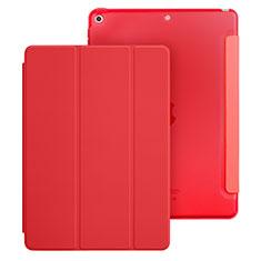 Handytasche Stand Schutzhülle Leder für Apple New iPad 9.7 (2018) Rot