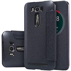 Handytasche Stand Schutzhülle Leder für Asus Zenfone 2 Laser 6.0 ZE601KL Schwarz