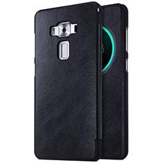 Handytasche Stand Schutzhülle Leder für Asus Zenfone 3 Deluxe ZS570KL ZS550ML Schwarz