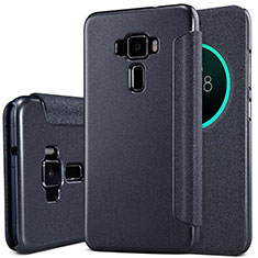 Handytasche Stand Schutzhülle Leder für Asus Zenfone 3 ZE552KL Schwarz