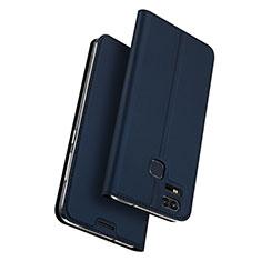 Handytasche Stand Schutzhülle Leder für Asus Zenfone 3 Zoom Blau