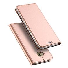 Handytasche Stand Schutzhülle Leder für Asus Zenfone 4 Selfie Pro Rosegold