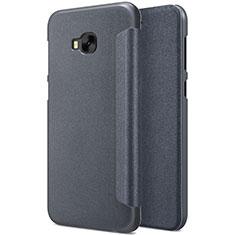 Handytasche Stand Schutzhülle Leder für Asus Zenfone 4 Selfie Pro Schwarz