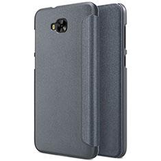 Handytasche Stand Schutzhülle Leder für Asus Zenfone 4 Selfie ZD553KL Grau