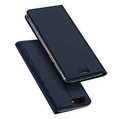Handytasche Stand Schutzhülle Leder für Asus Zenfone 4 ZE554KL Blau