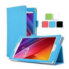 Handytasche Stand Schutzhülle Leder für Asus ZenPad C 7.0 Z170CG Hellblau