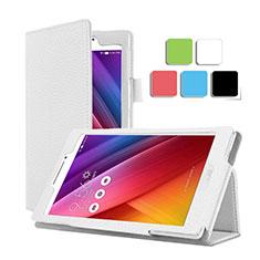Handytasche Stand Schutzhülle Leder für Asus ZenPad C 7.0 Z170CG Weiß